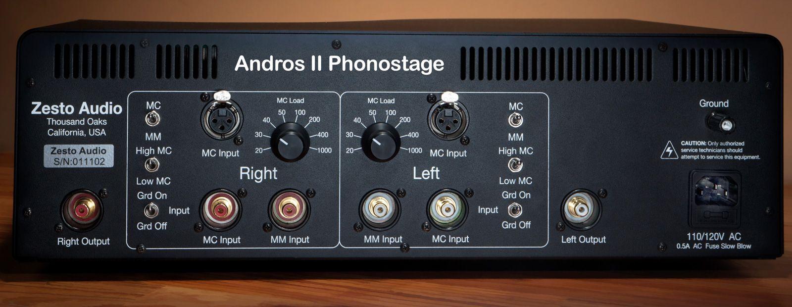 Zesto Andros II Vaccuum Tube Phono Stage - MM/MC