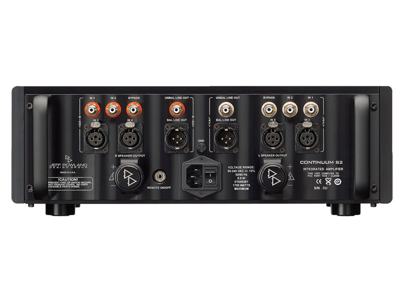 Jeff Rowland Design Continuum S2 Integrated Amplifier