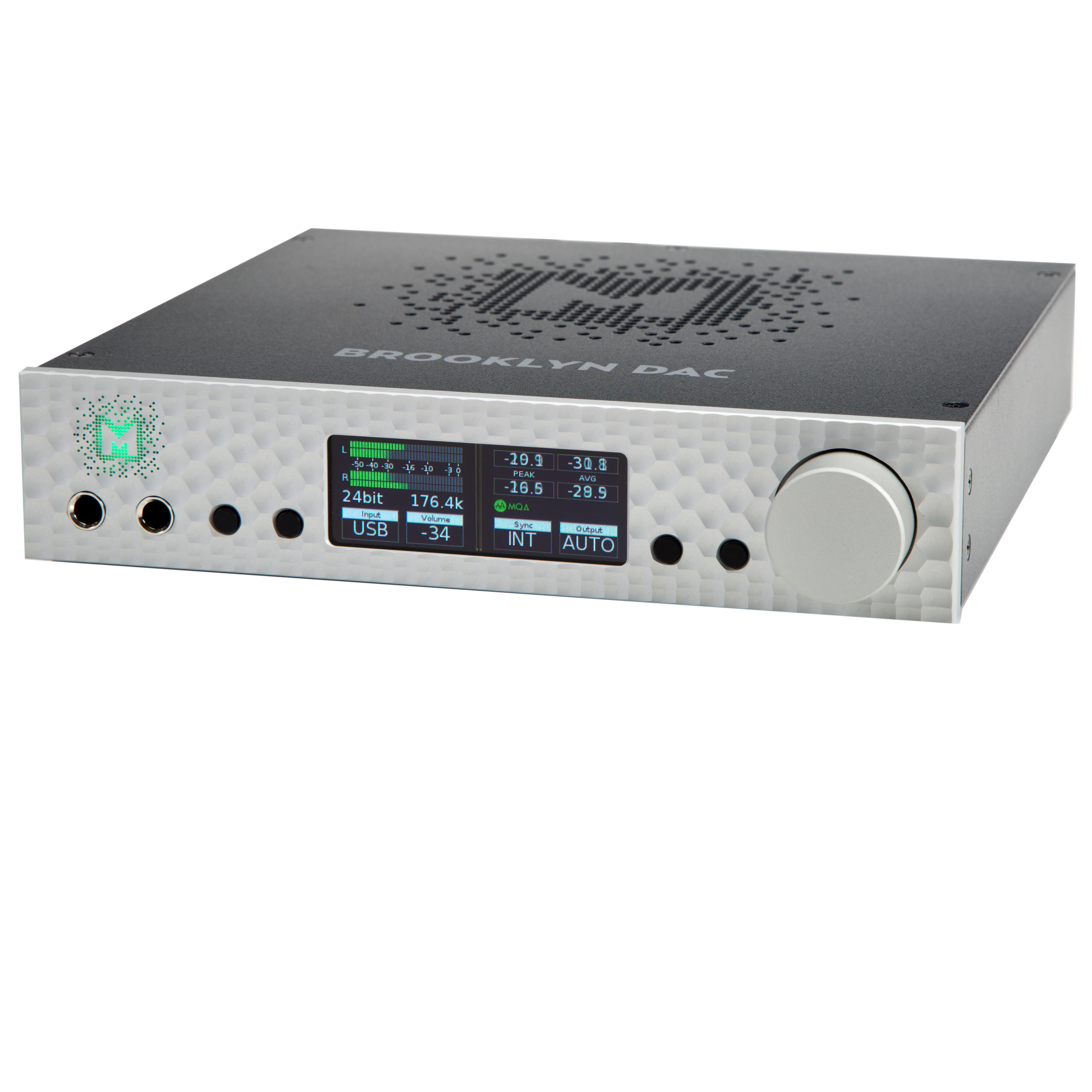 MYTEK Brooklyn DAC/Headphone Amplifier/Preamplifier, Silver - DEMO