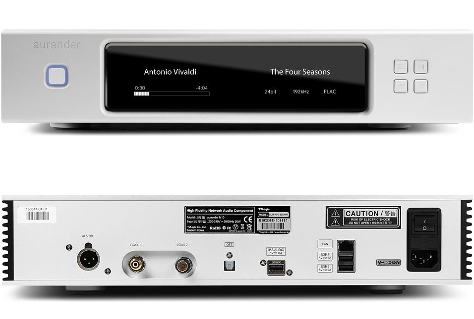 Aurender N10 Caching Music Server/Streamer, 8TB, Silver